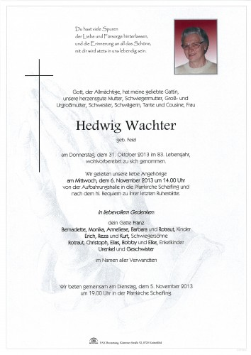 Hedwig Wachter