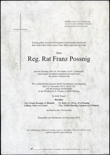 Reg. Rat Franz Possnig