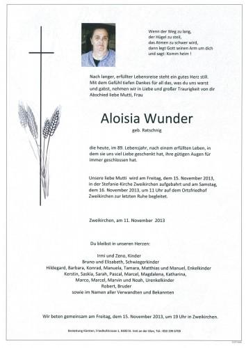 Aloisia Wunder