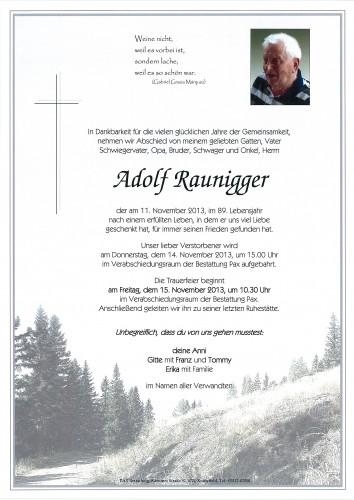 Adolf Raunigger