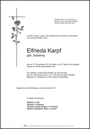 Elfrieda Karpf