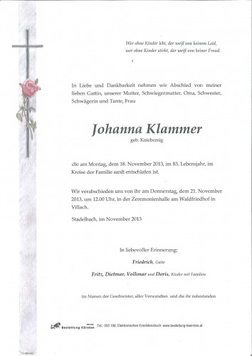 Johanna Klammer