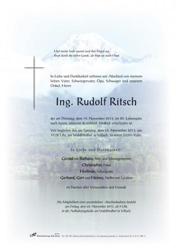 Ing. Rudolf Ritsch