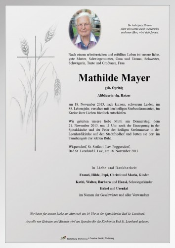 Mathilde Mayer
