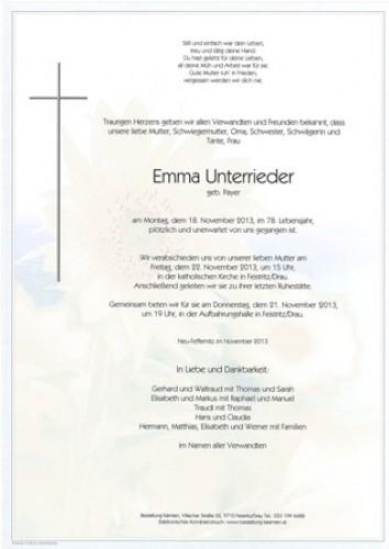 Emma Unterrieder