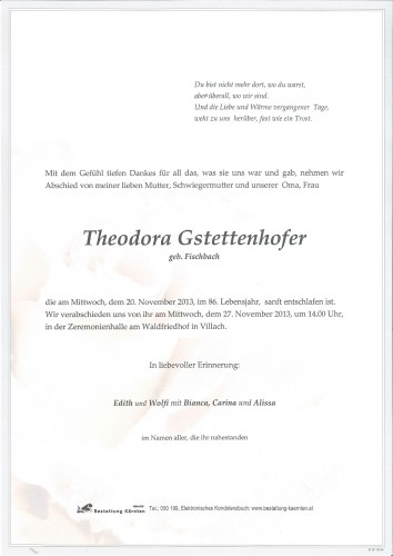 Theodora Gstettenhofer