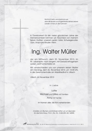 Ing. Walter Müller