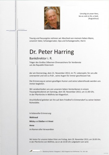 Dr. Peter Harring