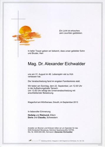 Mag. Dr. Alexander Eichwalder
