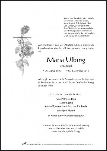 Maria Ulbing