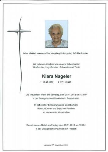 Klara Nageler