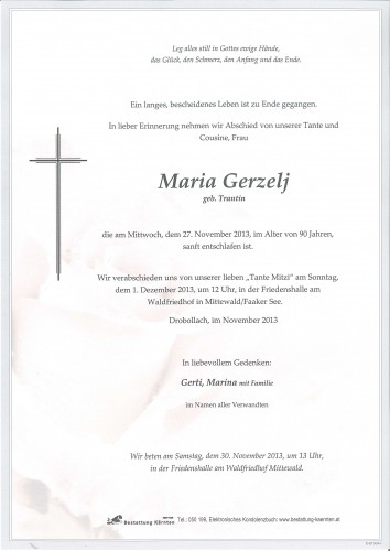 Maria Gerzelj