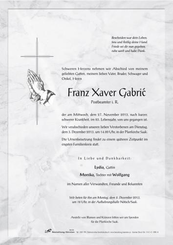 Franz Xaver Gabric´