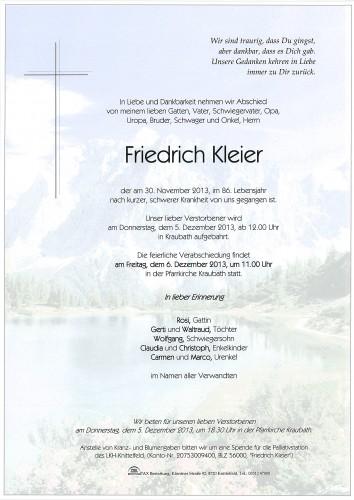 Friedrich Kleier