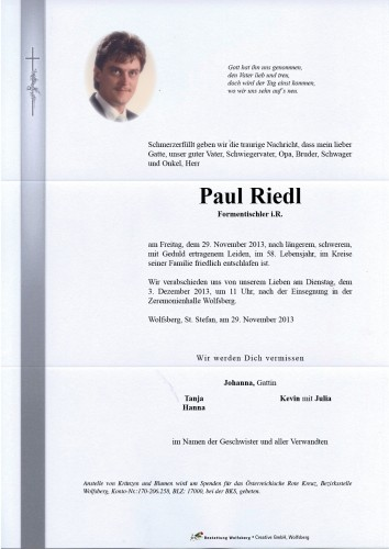 Paul Gerhard Riedl