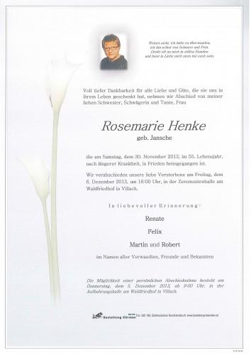 Rosemarie Henke