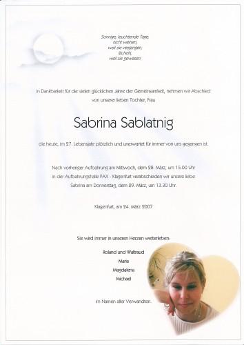 Sabrina Sablatnig