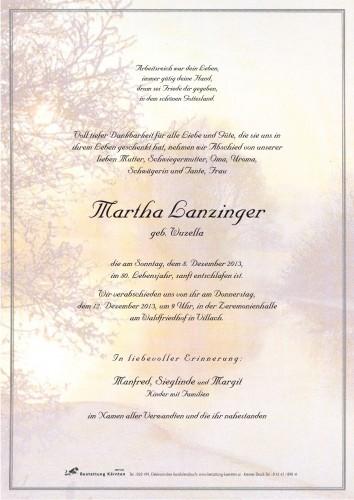 Martha Lanzinger