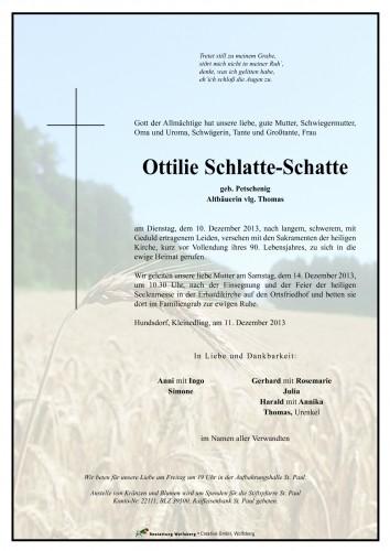 Ottilie Schlatte-Schatte