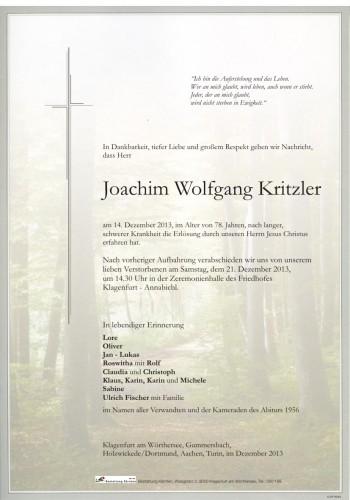 Joachim Wolfgang Kritzler
