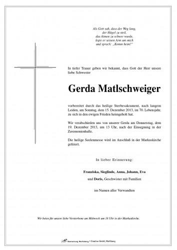Gerda Aloisia Matlschweiger