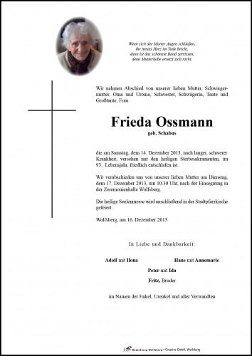 Ossmann Friederike Maria