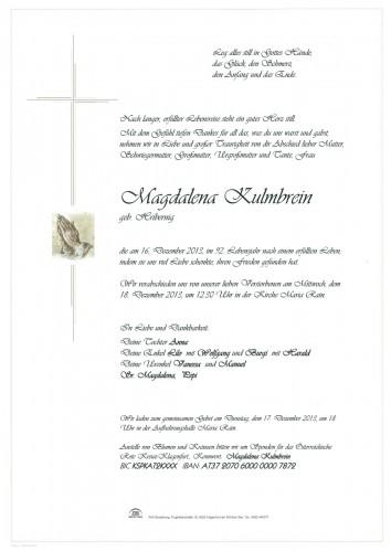 Kulmbrein Magdalena