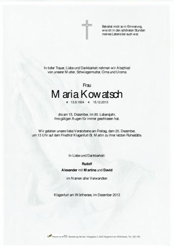 Maria Kowatsch