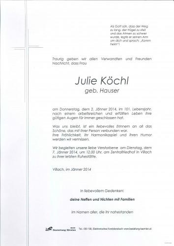 Julie Köchl geb. Hauser