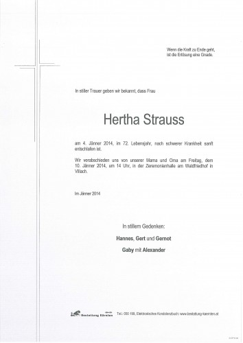 Hertha Strauss
