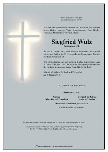 Siegfried Wulz