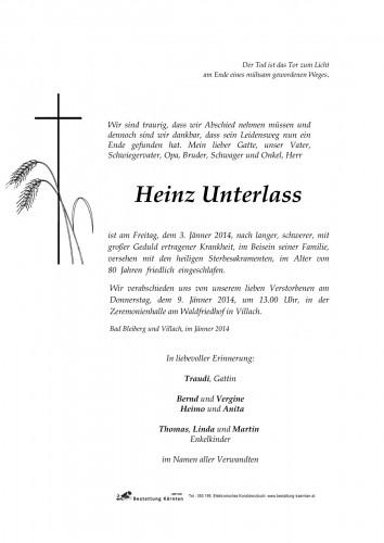 Heinz Unterlass