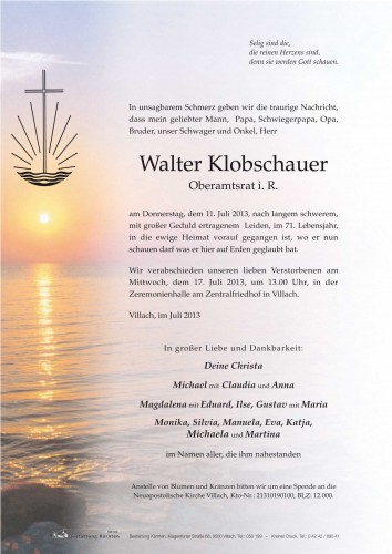 Walter Klobschauer