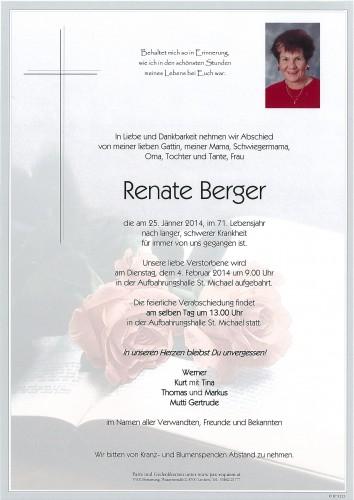 Renate Berger