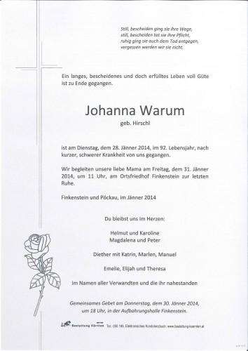 Johanna Warum