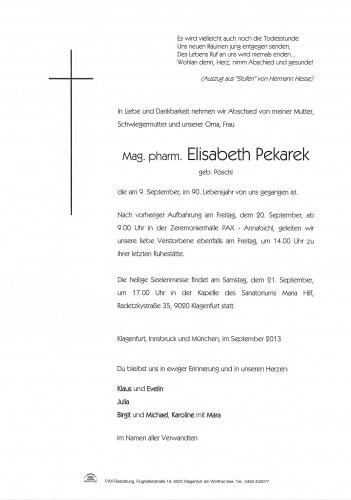 Mag. pharm. Elisabeth Pekarek