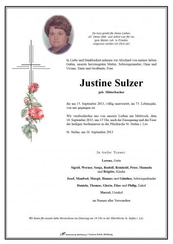 Justine Sulzer