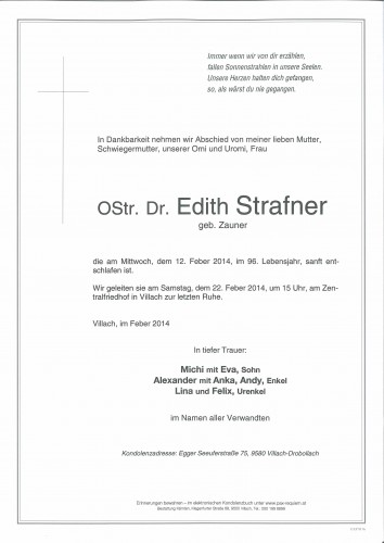 OStr. Dr. Edith Strafner