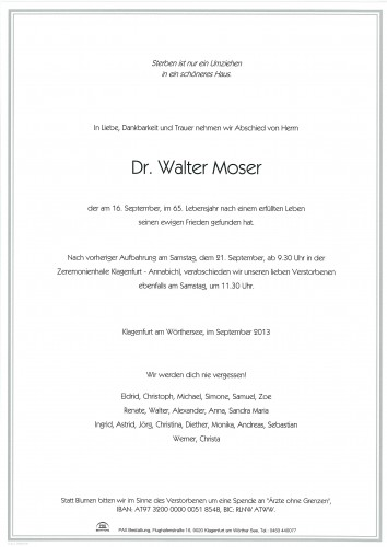 Dr. Walter Moser