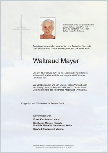 Waltraud Mayer