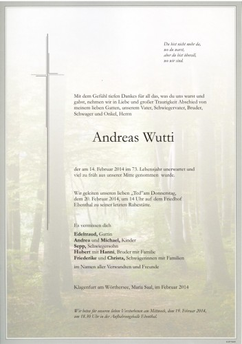 Andreas Wutti