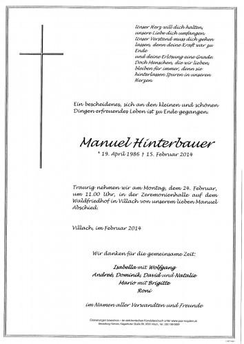Manuel Hinterbauer