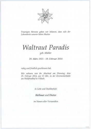 Waltraut Paradis