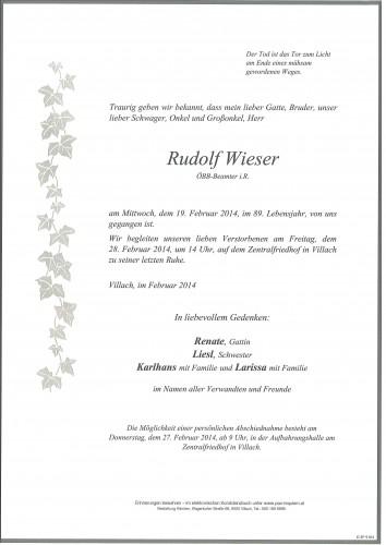 Rudolf Wieser