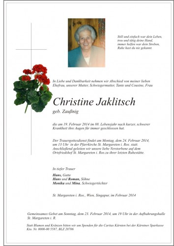 Christine Jaklitsch