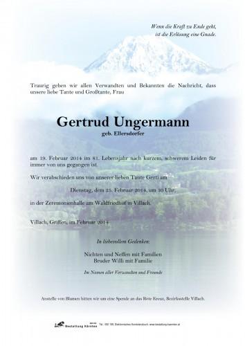 Gertrud Ungermann, geb. Ellersdorfer