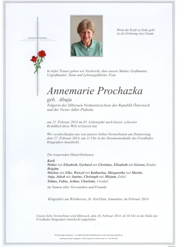 Annemarie Prochazka