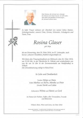 Rosina Glaser