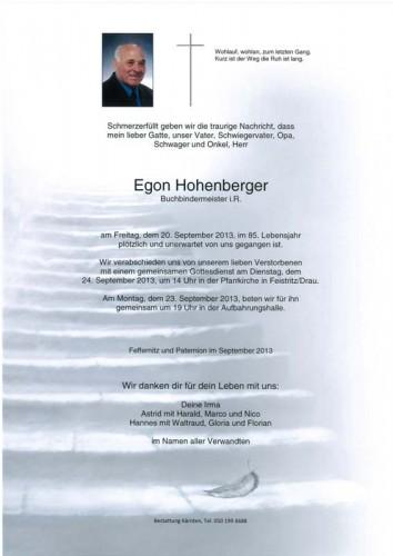 Egon Hohenberger