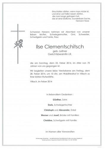 Ilse Clementschitsch geb. Leitner